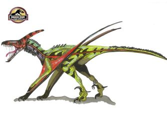 672px-Jurassic Park Pteranoraptor by hellraptor