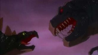 Disney's Fantasia (1940) T-Rex vs. Stegosaurus Dinosaur Battle