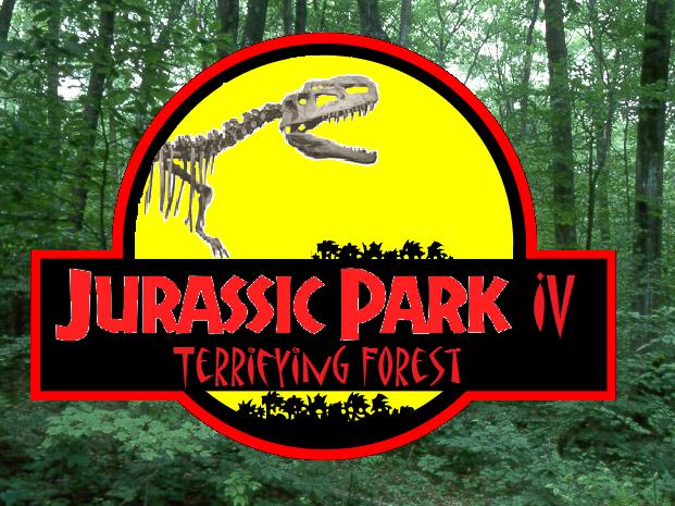 Jurassic park terrifying forest logo