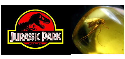 Jurassic-Park-movie-logo-and-mosquito-in-amber