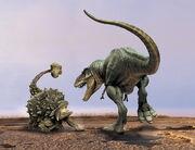 Tyrannosaurus rex vs Ankylosaurus
