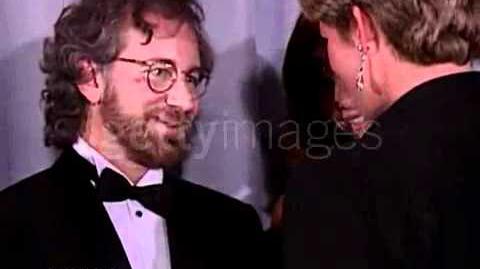 "Princess Diana meets stars of ""Jurassic Park"""