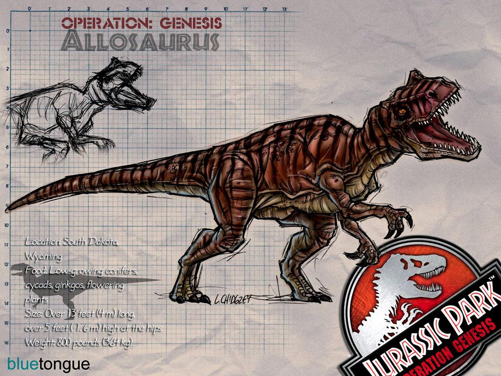 Allosaurus | Jurassic Park: Operation Genesis Wiki ... Yangchuanosaurus Coloring Page