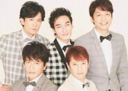 Smap in checkered tux
