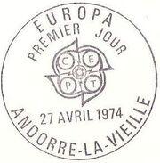Andorra-French 1974 - Europa - Sculptures PSMa