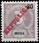 Angola 1911 D. Carlos I Overprinted e