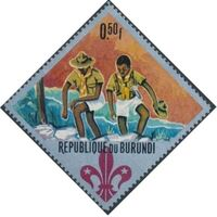 Burundi 1967 60th Anniversary of the Boy Scouts and the 12th Boy Scout World Jamboree a
