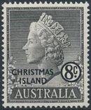 Christmas Island 1958 Queen Elizabeth II e