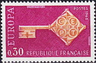 France 1968 EUROPA a