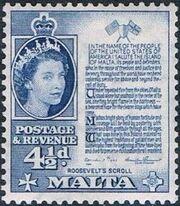 Malta 1956 Elizabeth II h