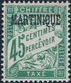 Martinique 1927 Postage Due Stamps of France Overprinted f.jpg