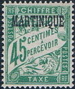 Martinique 1927 Postage Due Stamps of France Overprinted f