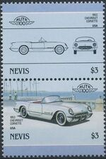 Nevis 1986 Leaders of the World - Auto 100 (5nd Group) f