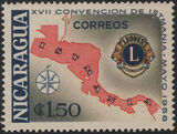 Nicaragua 1958 17th Convention of Lions International of Central America f