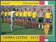 Sierra Leone 1990 Football World Cup in Italy f