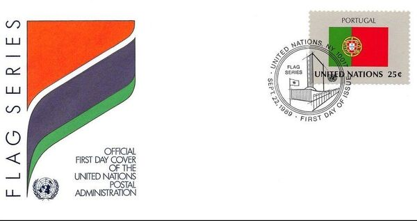 United Nations-New York 1989 Flag Series FDCf