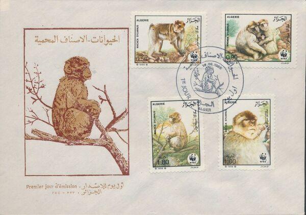 Algeria 1988 WWF - Barbary Macaque FDCe