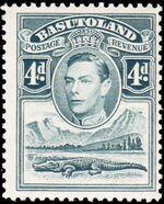 Basutoland 1938 George VI, Crocodile and River Scene f