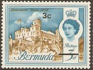 Bermuda 1970 Definitive Issue of 1962 Surcharged c