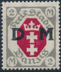 """Danzig 1921 Issues from 1921-1922 Overprinted """"D M"""" m"""