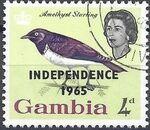 Gambia 1965 Birds Overprinted e