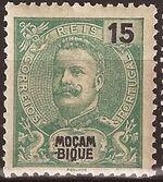 Mozambique 1903 D. Carlos I - New Values and Colors a