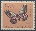 Mozambique 1953 Butterflies and Moths j