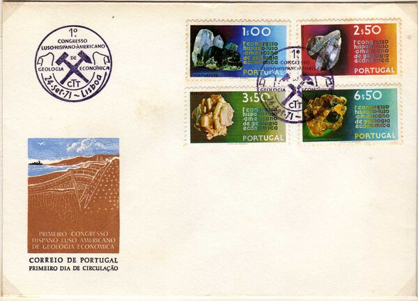 Portugal 1971 1st Spanish-Portuguese-American Economic Geology Congress e