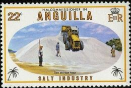 Anguilla 1980 Salt Industry d