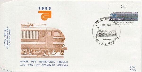 Belgium 1985 Public Transportation Year FDCE1