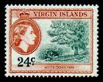 British Virgin Islands 1956 Queen Elizabeth II and Views i