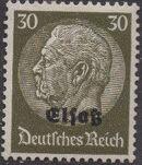 German Occupation-Alsace 1940 Stamps of Germany (1933-1936) Overprinted in Black k