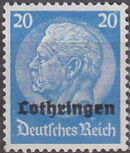 German Occupation-Lothringen 1940 Stamps of Germany (1933-1936) Overprinted in Black i