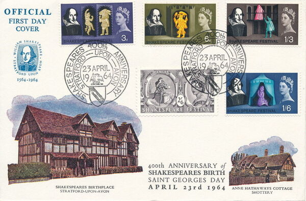 Great Britain 1964 400th Anniversary of the Birth of William Shakespeare FDCb