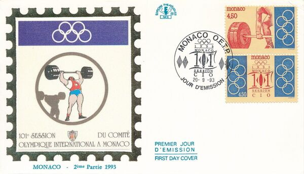 Monaco 1993 101st Session International Olympic Committee FDCh