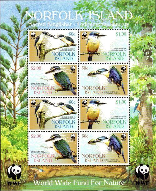 Norfolk Island 2004 WWF Sacred Kingfisher MSa