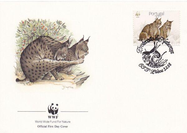 Portugal 1988 WWF Iberian Lynx (Lynx pardina) FDCd