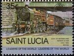 St Lucia 1983 Leaders of the World - LOCO 100 l