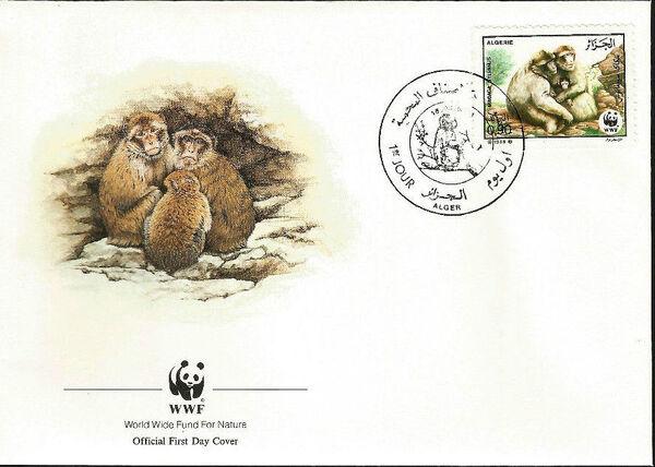 Algeria 1988 WWF - Barbary Macaque FDCb