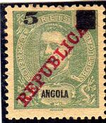 Angola 1912 D. Carlos I Overprinted and Surcharge b