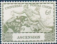 Ascension 1949 75th Anniversary of Universal Postal Union UPU c
