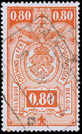 Belgium 1941 Railway Stamps (Numeral in Rectangle IV) h