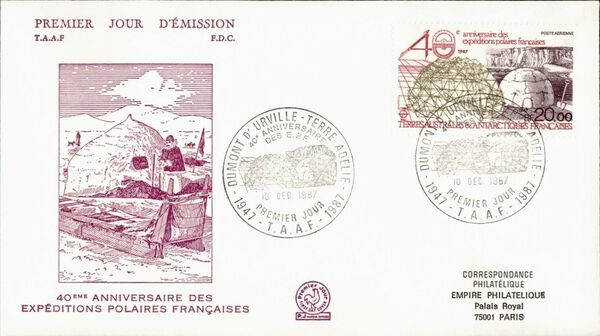 French Southern and Antarctic Territories 1988 40th Anniversary of the French Polar Expeditions FCa