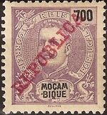 Mozambique 1911 D. Carlos I Overprinted o