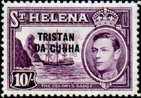 Tristan da Cunha 1952 Stamps of St. Helena Overprinted l