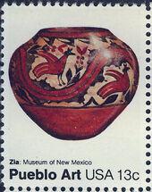 United States of America 1977 American Folk Art Series - Pueblo Pottery a