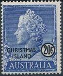 Christmas Island 1958 Queen Elizabeth II h