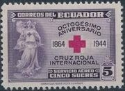 Ecuador 1944 80th Anniversary of the International Red Cross - Air Post Stamps c
