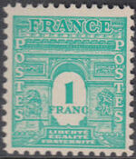 France 1944 Arc of the Triomphe - Allied Military Government e