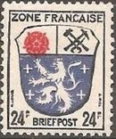 Germany-French Zone 1946 Arms and Writers b